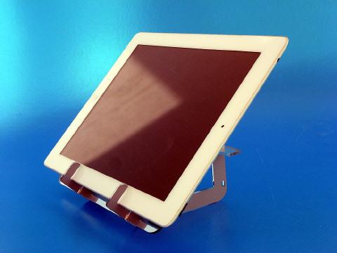 handige standaard annex fotolijst of spiegel voor uw ipad tablet. Black Bedroom Furniture Sets. Home Design Ideas
